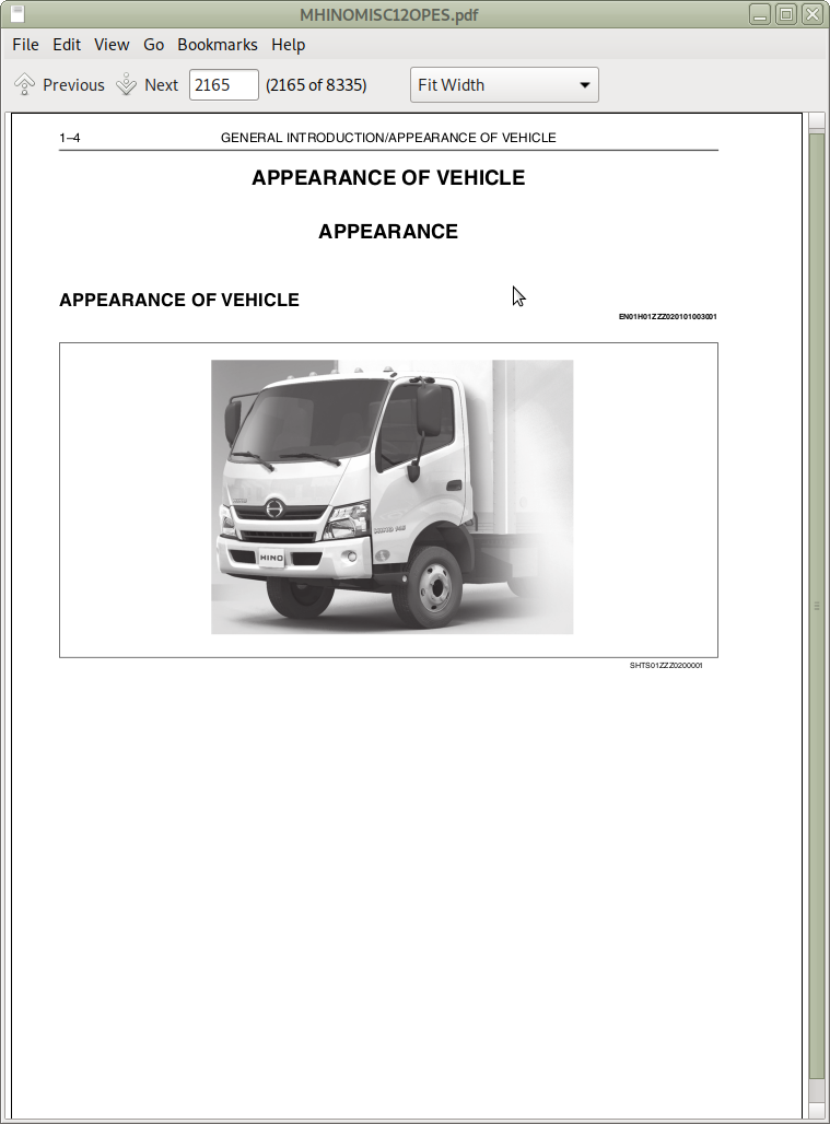 Hino Trucks 238  258lp  268  338 Models Repair Service