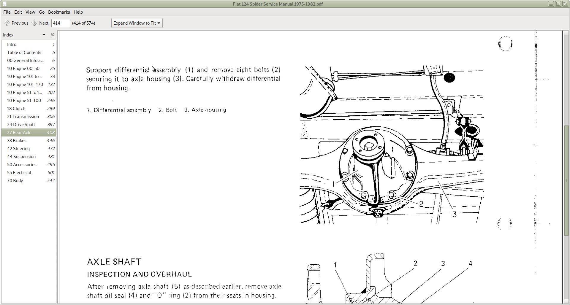 Fiat 124 Spider Models Repair Service Manual
