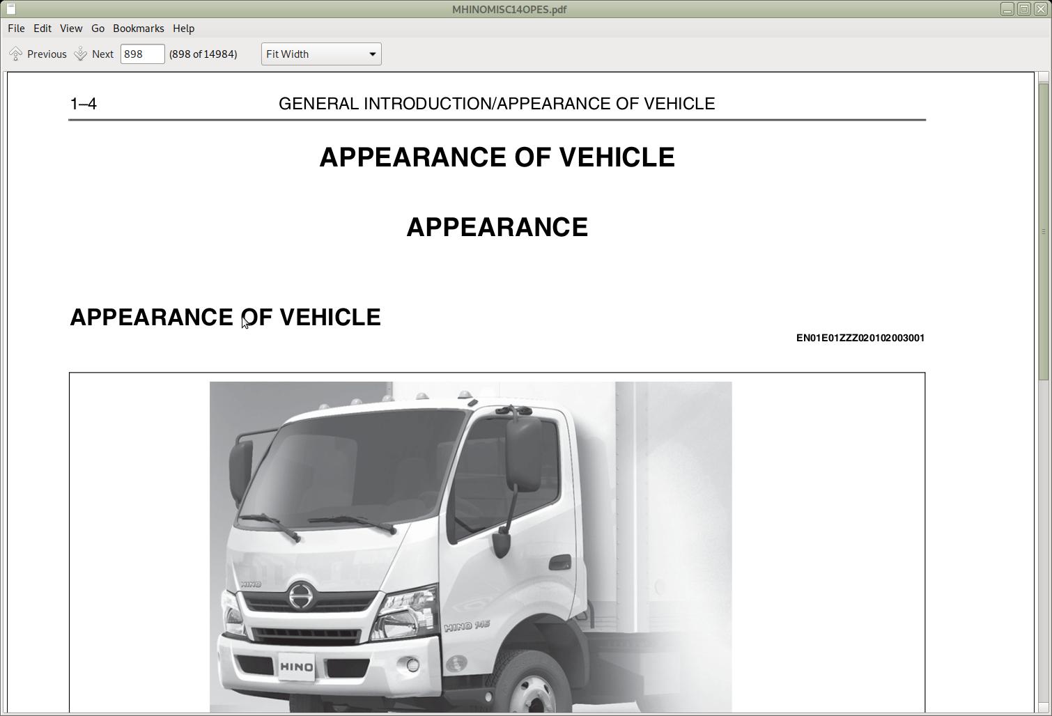 Hino Trucks 155  155h  195  195h  U0026 238  258lp  268  338