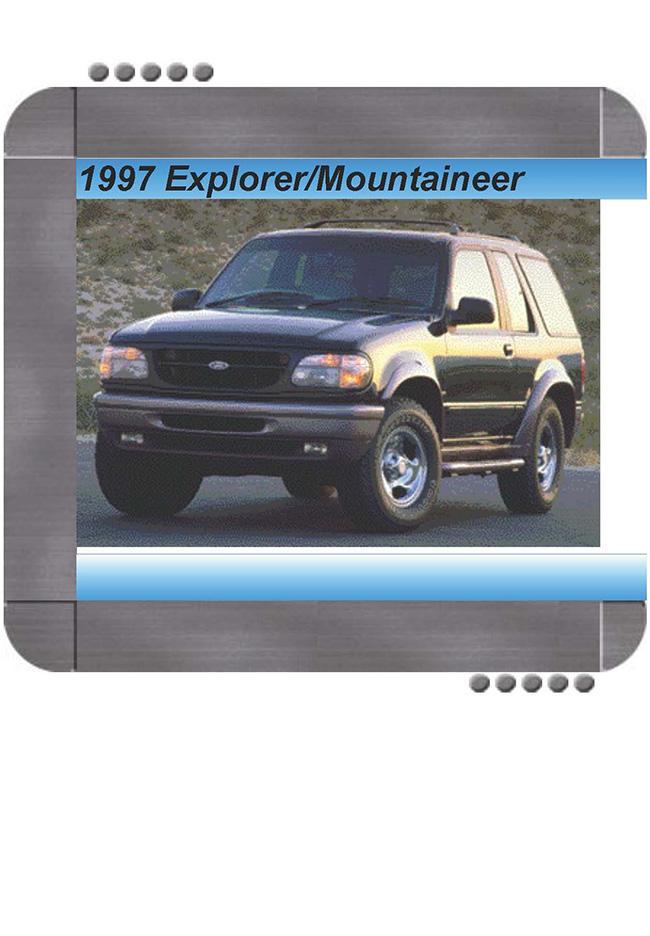 Ford Explorer  Mercury Mountaineer 1997 Repair Service