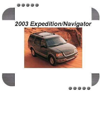 Ford Expedition  Lincoln Navigator 2003 Repair Service