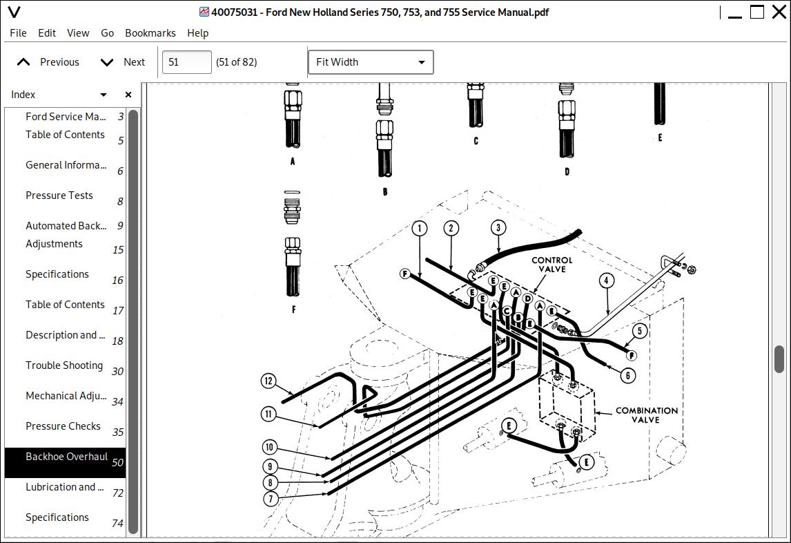 Ford Industrial Backhoes Series 750, 753 & 755 Repair