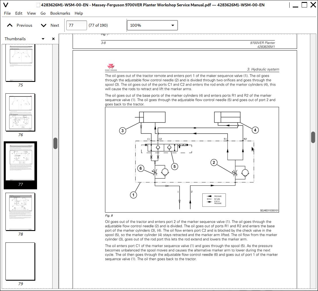 Massey Ferguson 9700ver Planter Repair Service Manual