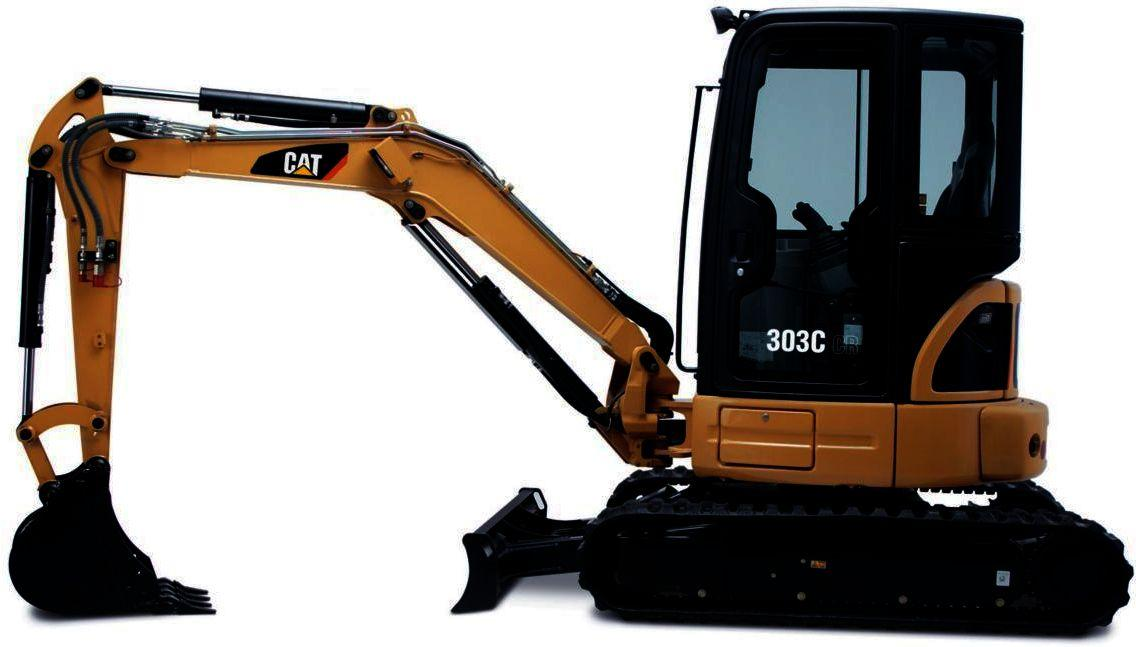 Caterpillar 303 5c And 303c Mini Hydraulic Excavators