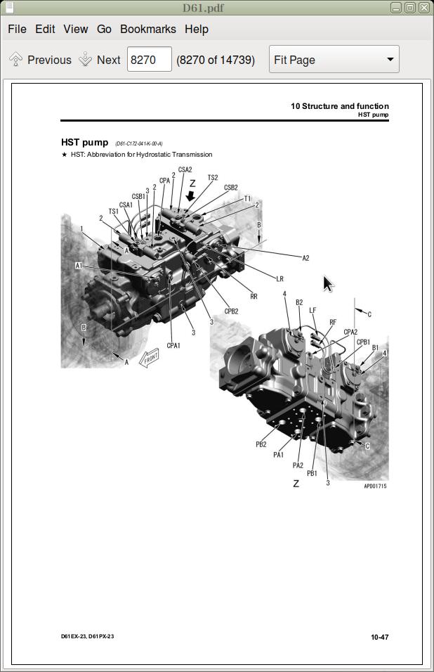 Komatsu Bulldozers D61- series Operation & Maintenance
