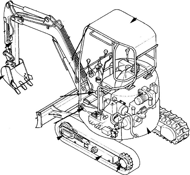 Hitachi EX17u Excavator Repair Service Manual + Operator's