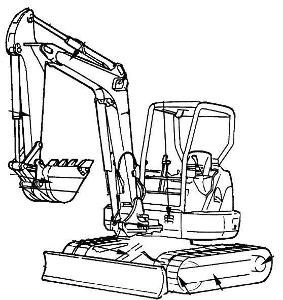 Hitachi EX27u, EX35u Excavators Repair Service Manual