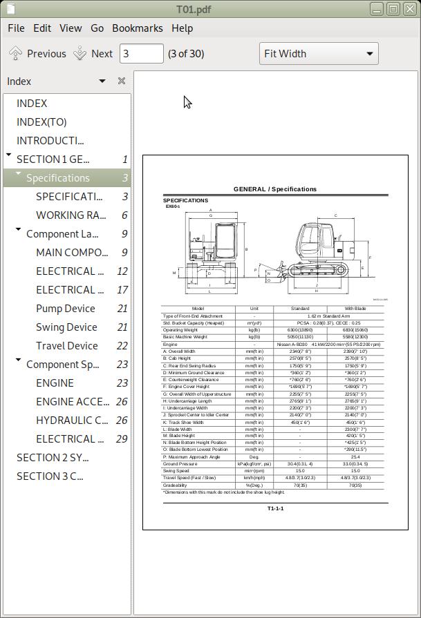 Hitachi EX60-5, EX75UR-3, 75URLC-3 Excavators Repair