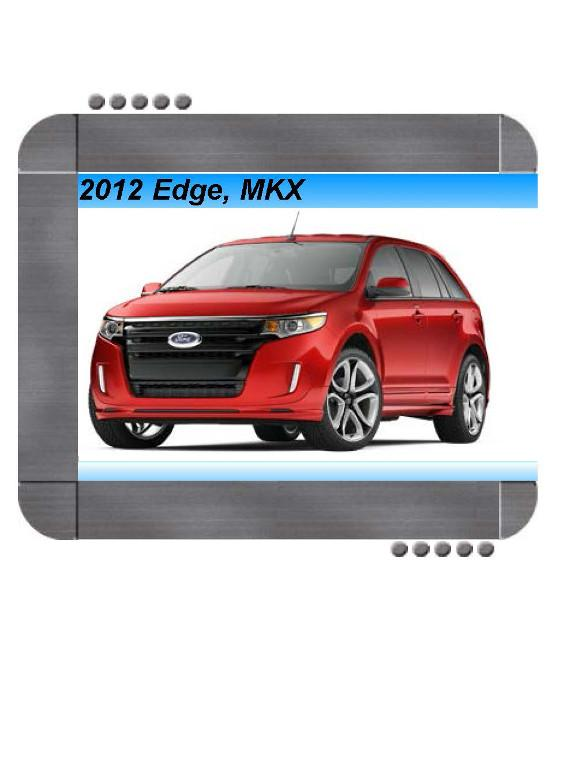 Ford Edge  Lincoln Mkx 2012 Repair Service Manual
