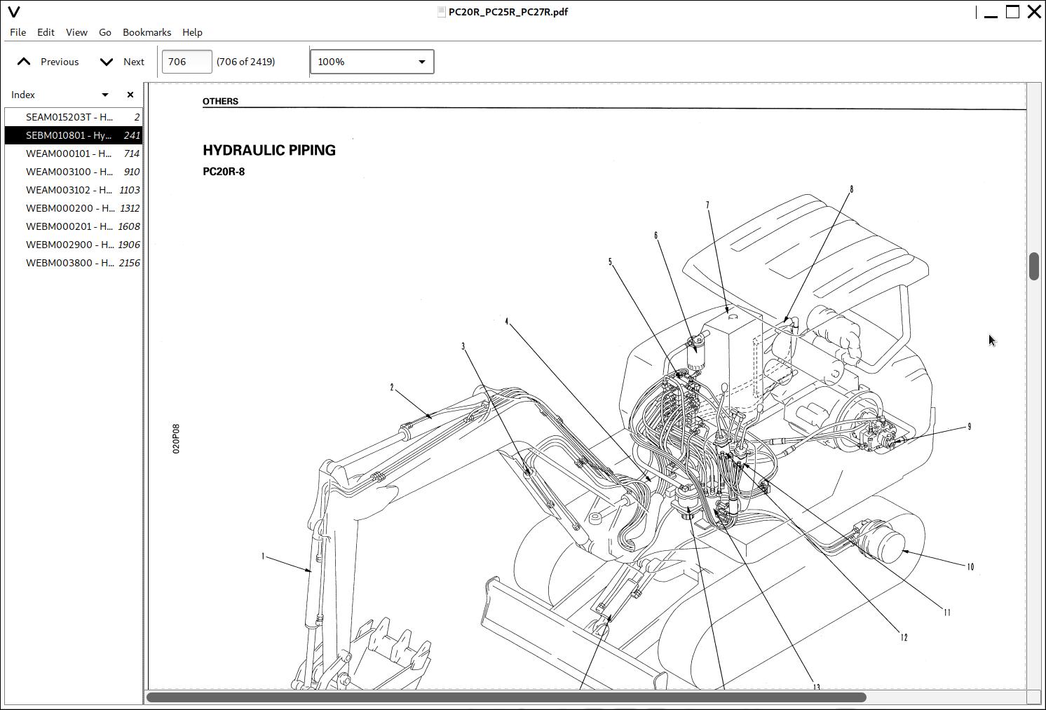 Komatsu Hydraulic Excavator PC20R, PC25R, PC27R Repair