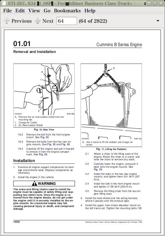 Freightliner Business Class Trucks Repair Service Manual