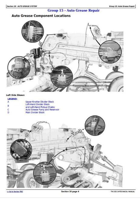 John Deere Hay and Forage Large Square Balers Models L330