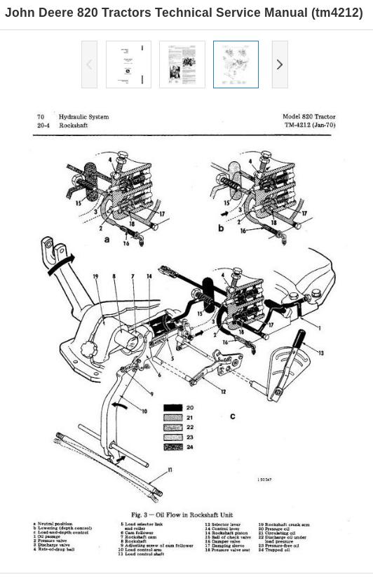 John Deere Tractors 820 Diagnosis Repair Service Technical