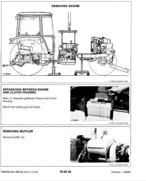 John Deere 2355, 2555, 2755, 2855N Tractors Diagnosis, Operation, Tests,  Repair & Service Manual (TM4434)   A++ Repair Manual Store