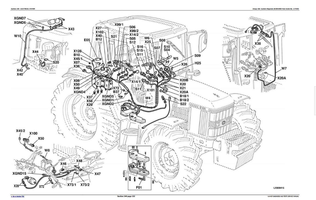 John Deere 6400 Wiring Diagram from aplusmanual.com
