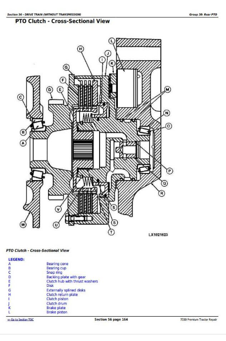 John Deere Tractors 7330 Premium Repair Service Manual