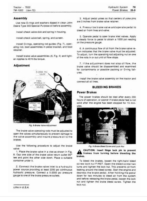 John Deere 7520 Tractor Diagnostic And Repair Service
