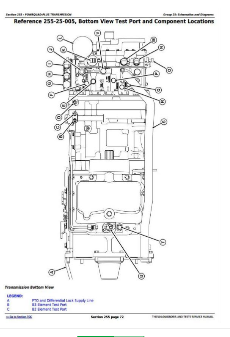 John Deere 7715, 7815 Tractors Diagnosis and Tests Service