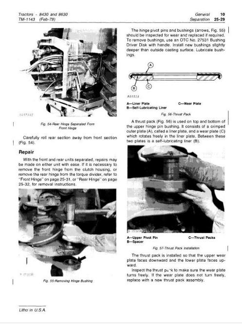 John Deere Tractors 8430, 8630 Diagnostic and Repair