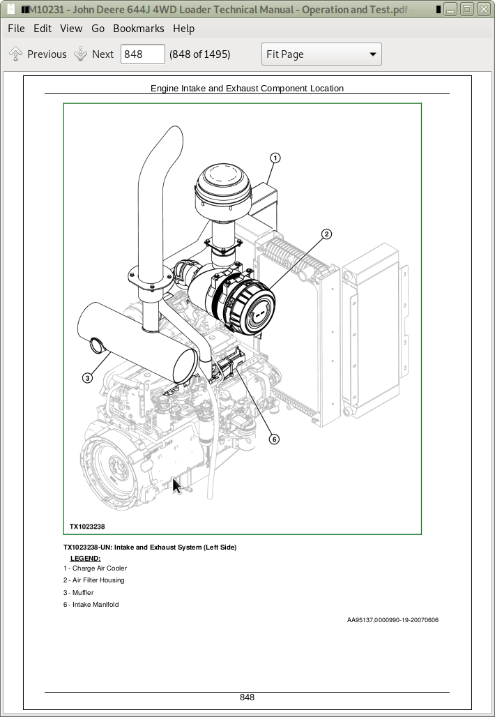 john deere 644b wiring harness diagram john deere 4wd loaders 644j operation and test service manual  john deere 4wd loaders 644j operation