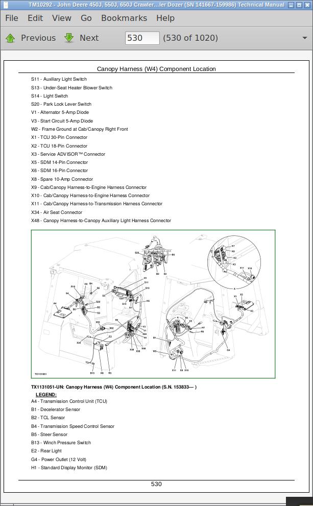John Deere Crawler Dozers 450j  550j  650j Operation And Test Service Manual  Tm10292