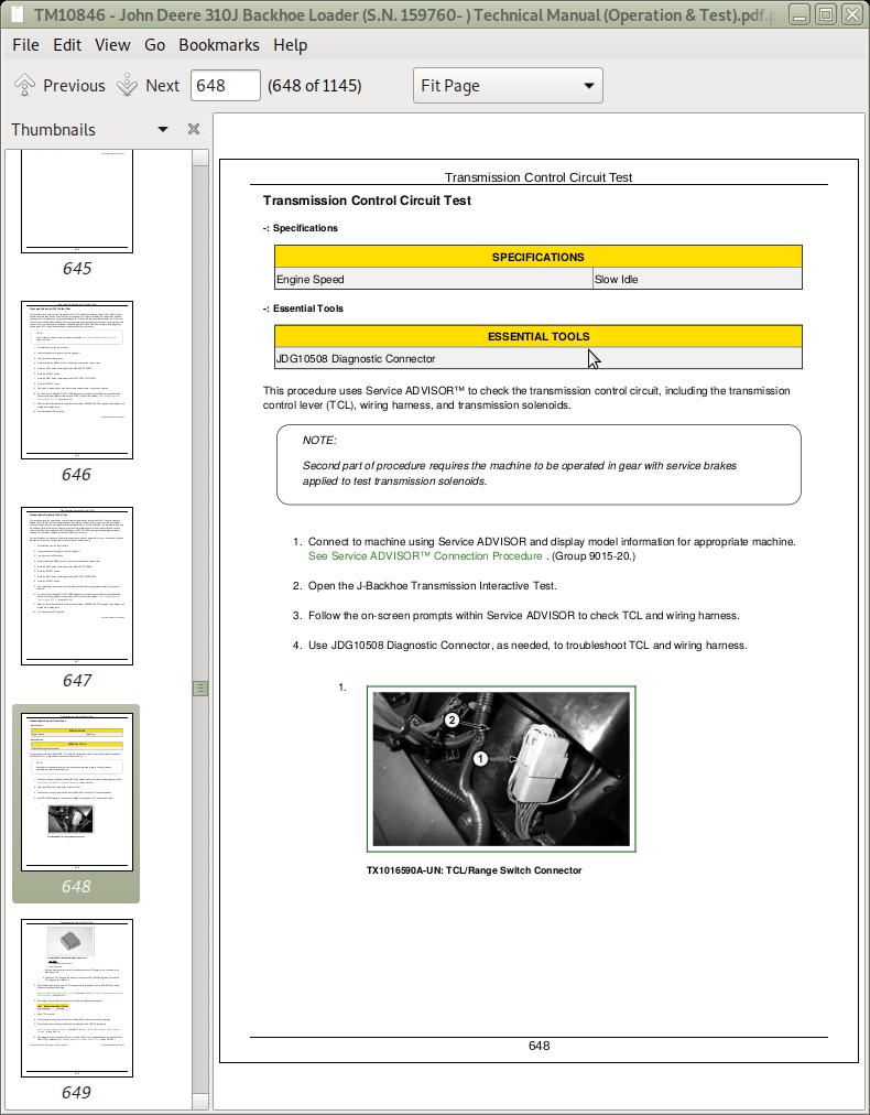 John Deere 310j Backhoe Loader Technical Manual  Operation