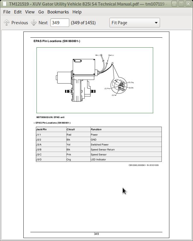 john deere xuv gator utility vehicle 825i s4 repair & service technical  manual + operator's manual (tm121519 & omm165093) | a++ repair manual store  a++ repair manual store