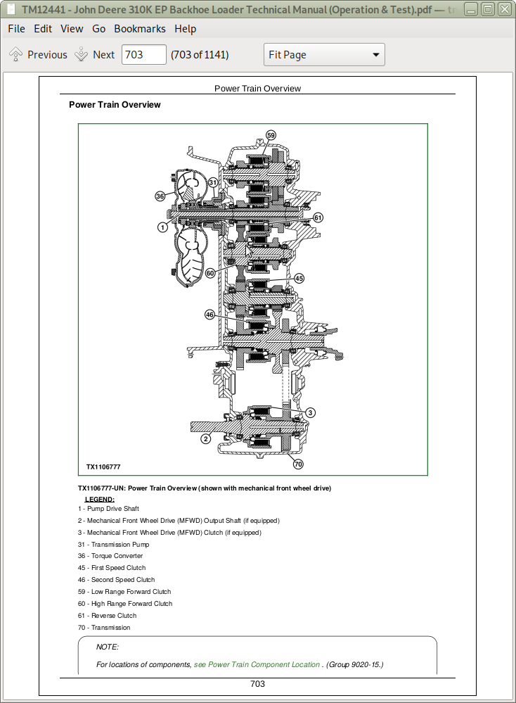 John Deere 310k Ep Backhoe Loader Service Manual Operation Test Tm12441 A Repair Manual Store