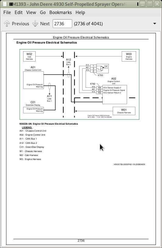 John Deere Self-Propelled Sprayer 4930 Diagnosis and Test