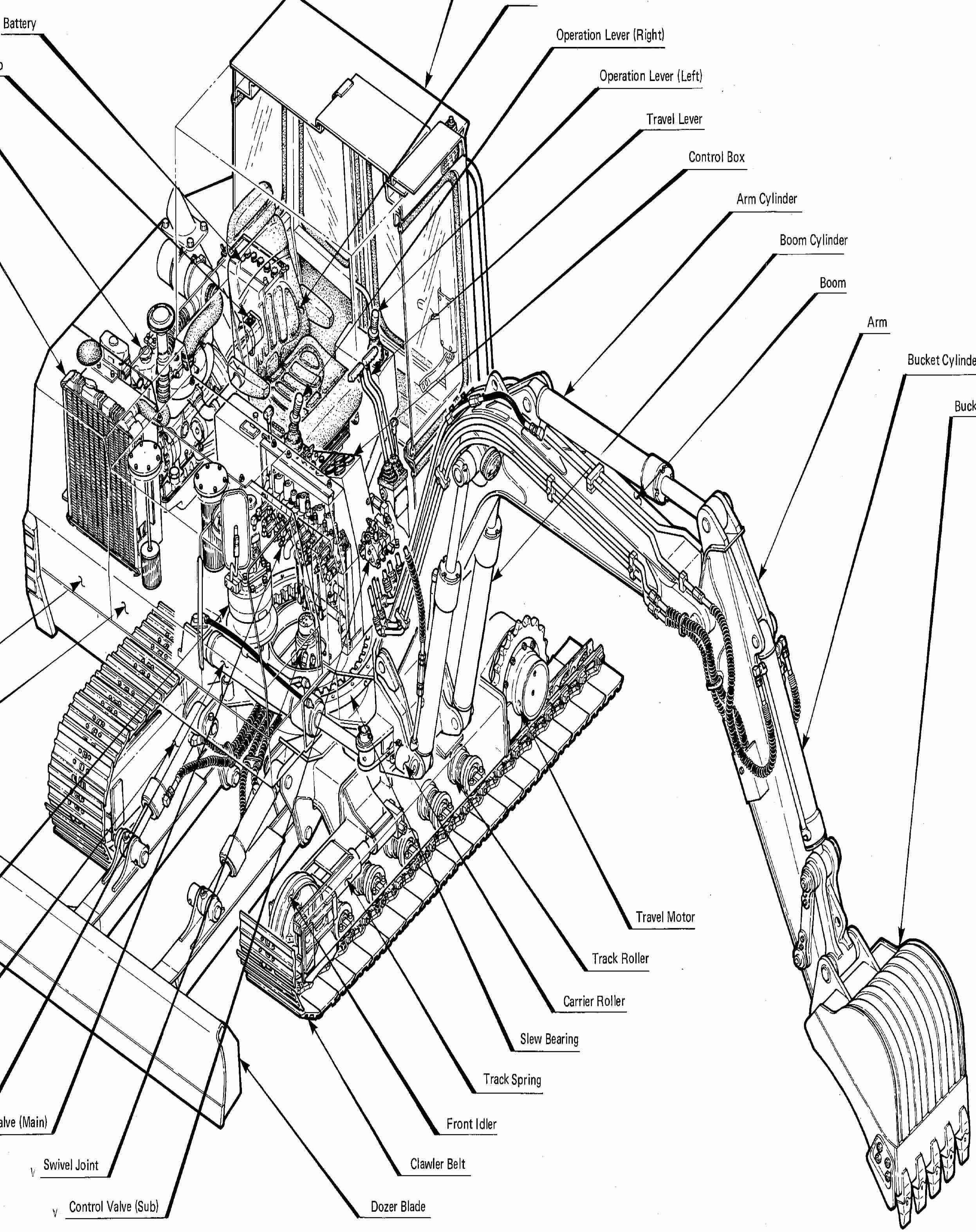 Takeuchi Compact Excavators TB045, TB45 Repair Service