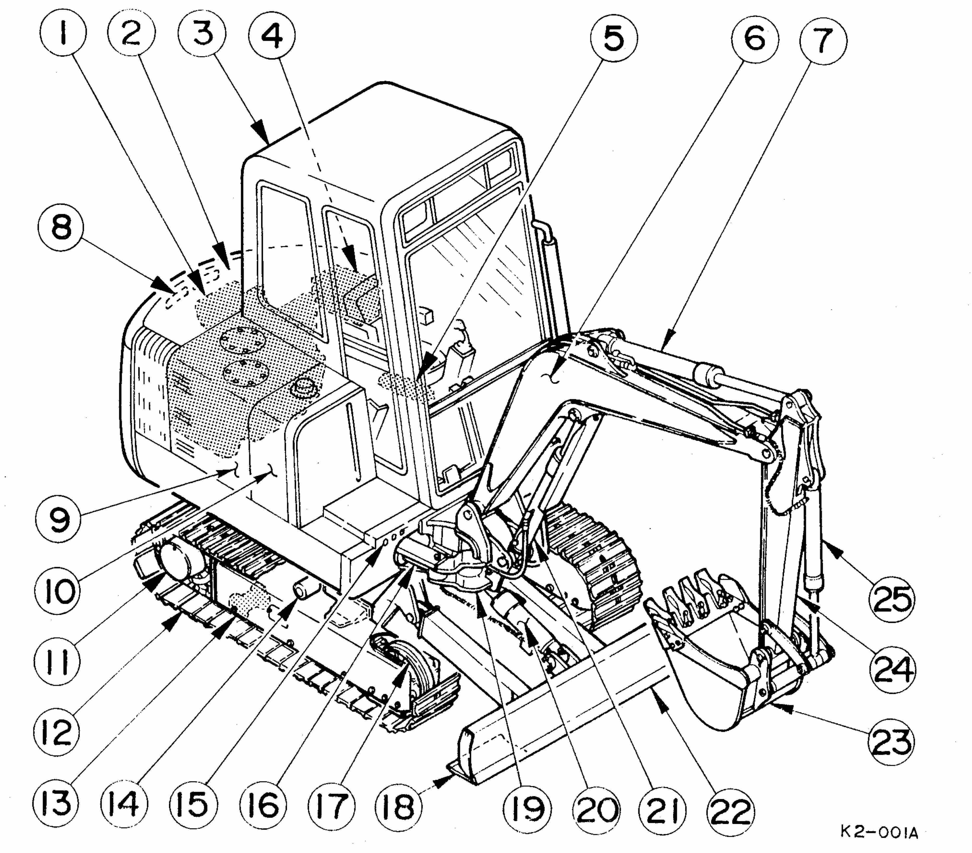 Takeuchi Compact Excavator TB025, TB030, TB035 Repair