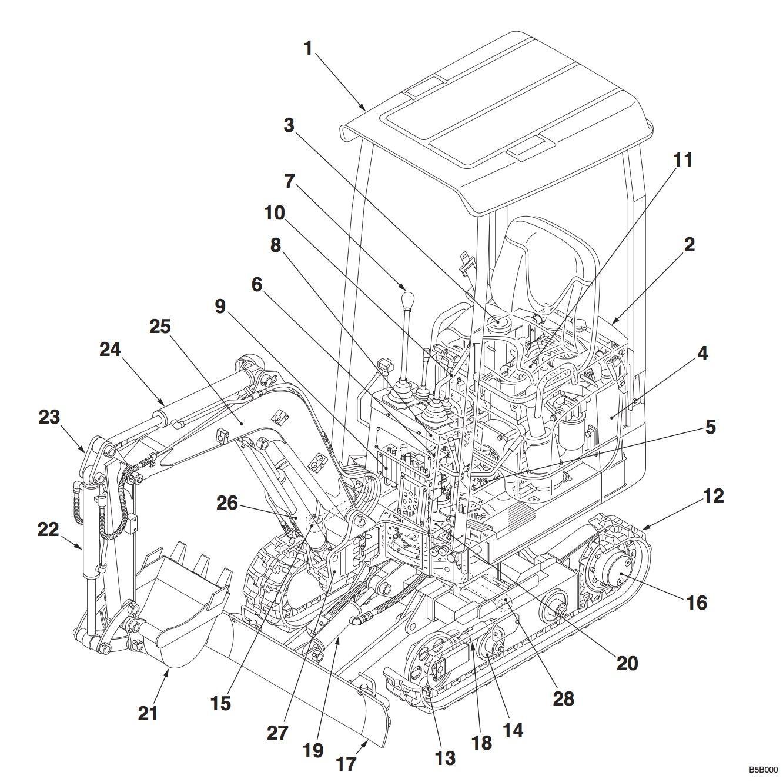 Takeuchi Compact Excavator TB108 Repair Service Manual