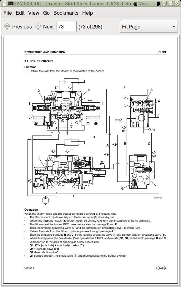 Komatsu Crawler Skid-Steer Loader CK20 Repair Service