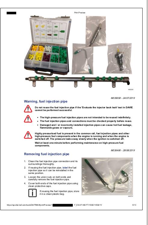 Daf Trucks Xf Series Euro6 Repair Service Manuals A Repair Manual Store