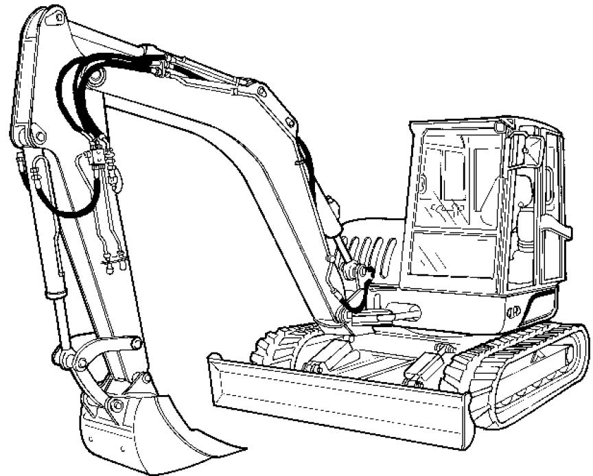 Bobcat Ingersoll-Rand ZX75, ZX125 Excavators Repair