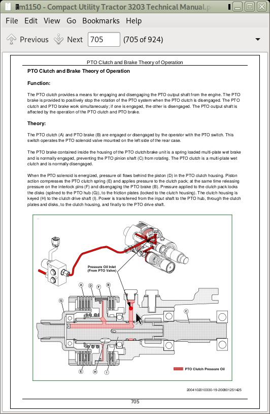 John Deere Compact Utility Tractors 3203 Service Technical