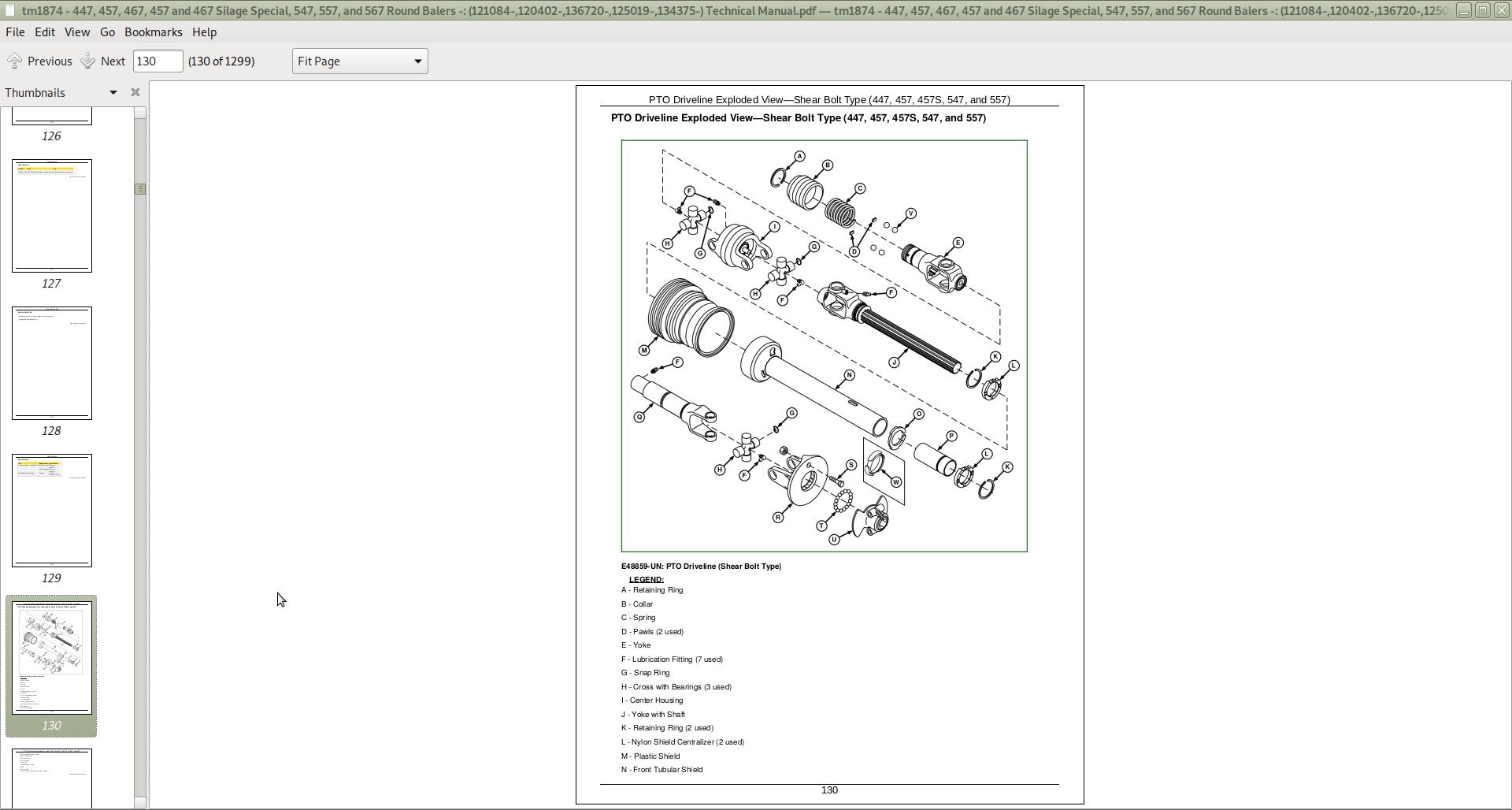 John Deere 447, 457, 467 Silage Special, 547, 557, 567 Round Balers Repair  Service Manual (TM1874)   A++ Repair Manual StoreA++ Repair Manual Store
