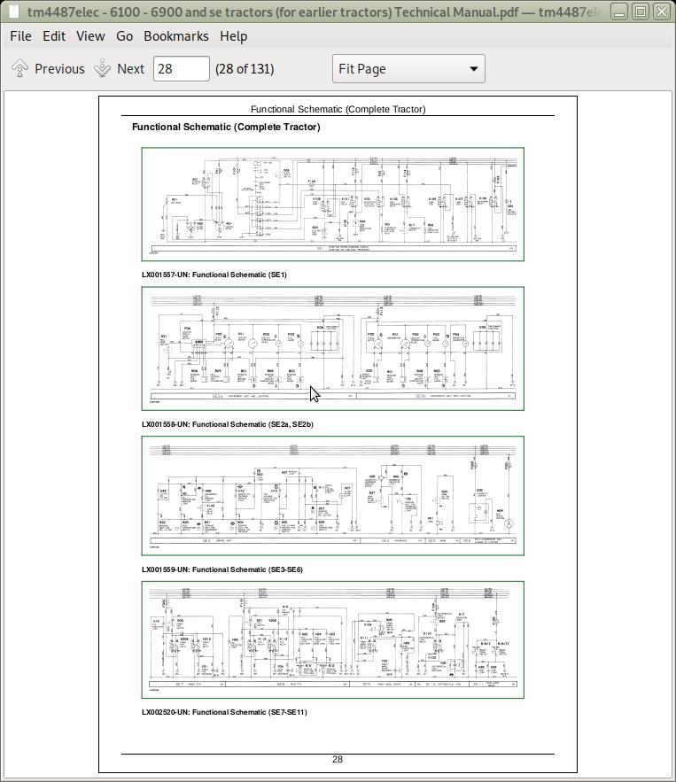 John Deere Tractors 6100  6200  6300  6400  Early Models  Electrics Diagnostic Service Manual