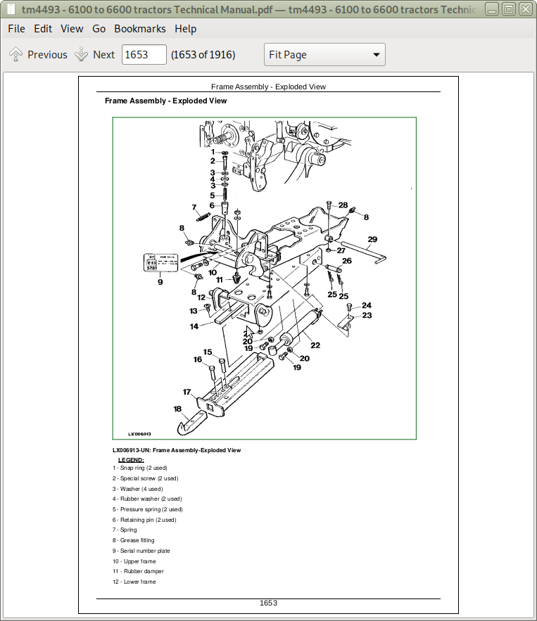John Deere Tractors 6100, SE6100, 6200, SE6200, 6300, SE6300, 6400, SE6400,  6506, 6600 Repair Service Manual (TM4493) | A++ Repair Manual StoreA++ Repair Manual Store